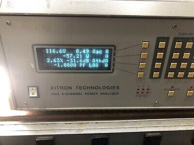 Xitron Technologies 2503 Power Analyzer 2 Channel Working Tested