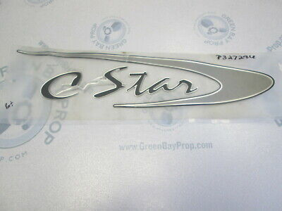 Starcraft C-Star Port Boat Name Logo Raised Decal Black Grey Silver