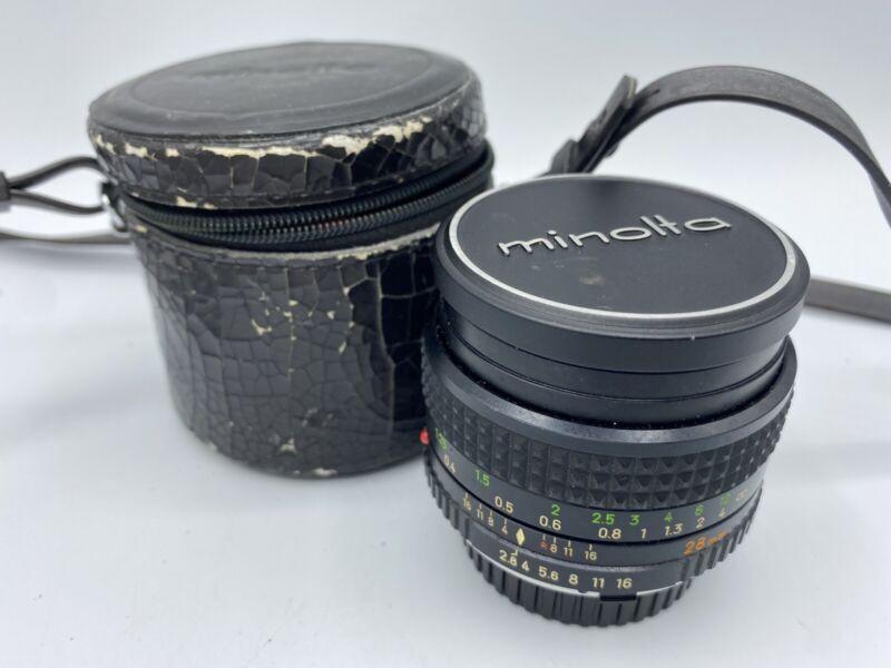 Vintage Minolta Camera Lens MC W.ROKKOR 28mm 2.8 #1036609 Japan