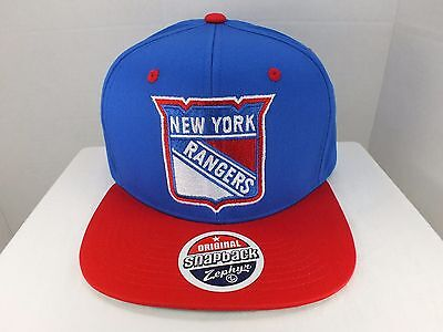 Zephyr Nhl Hut (New York Rangers NHL Vintage Logo Einfach Blau/Rot Snapback Hut Mütze By Zephyr)