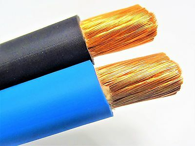 50 Ft 10 Awg Weldingbattery Cable 25 Black 25 Blue 600v Made In Usa Copper