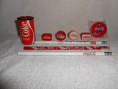 Coca-Cola Pencil Sharpeners & Pencils--6 Diff. Sharpeners & 3 Diff. Pencils