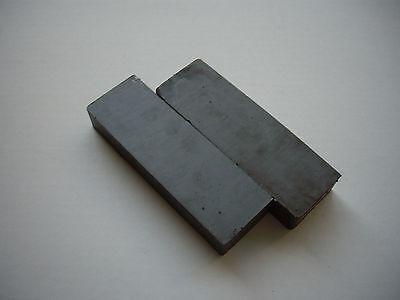 """2 each 6""""x2""""x1"""" Ceramic Block Magnet"""