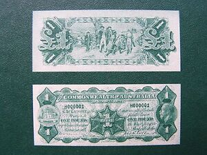 AUSTRALIA 1923 MILLER / COLLINS - 1932 RIDDLE / SHEEHAN 1st SERIES OF BANKNOTES