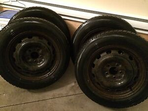 4x rims pneu d'hiver winter tires and rims 5x114.3 16""
