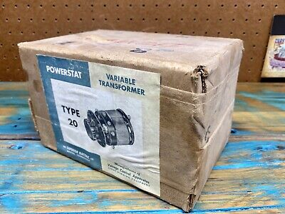 Superior Electric Powerstat Type 20 Variable Transformer New