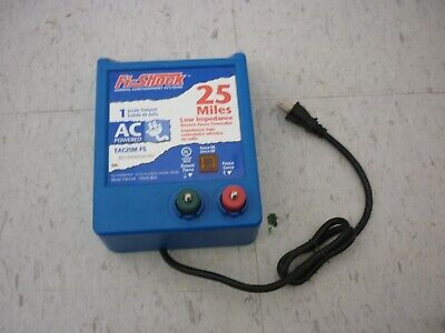 Fi-shock Eac25m-fs 25 Miles Electric Fence Controller Ac Power - Tested