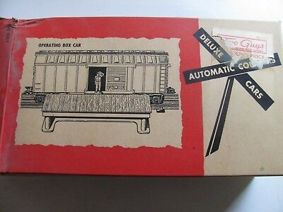 Marx 05595 Operating Box Car with Ramp MIB Un-run THE