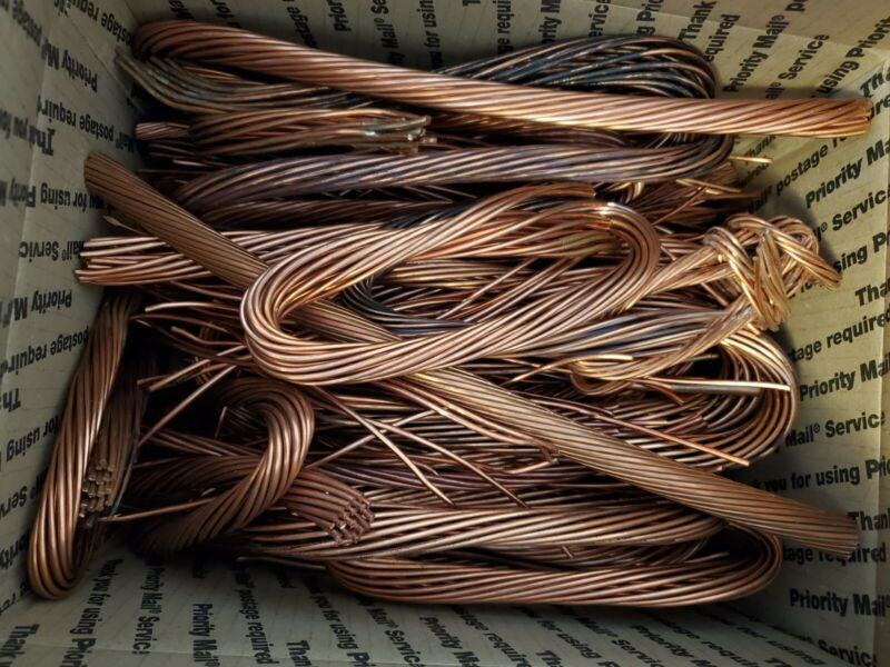 27.8 Lbs Scrap Copper Wire Bare Bright
