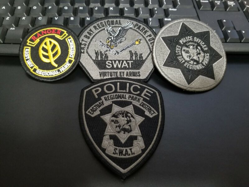 East Bay Regional Parks SWAT and Ranger California CA Police Patch Patches (4)