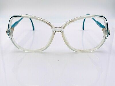 Vintage Gucci GG2103 Teal Translucent Oval Sunglasses Frames Italy