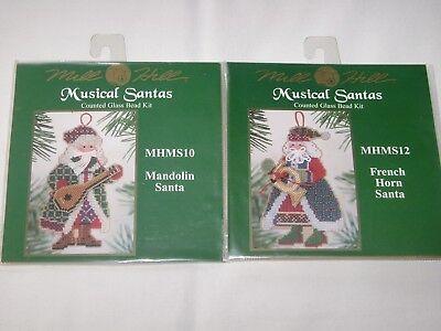 Mill Hill Counted Glass Bead Kits MUSICAL SANTAS French Horn & Mandolin ()