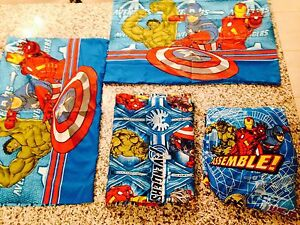 Avengers sheet 4 pcs Twin Size NEW