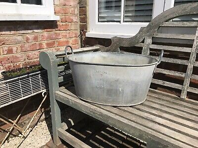 Suttons Holloware 1944 Galvanised Tub/Trough/Bath