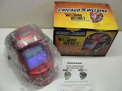 New Chicago Welding Auto-darkening Welding Helmet W Racing Stripe Design