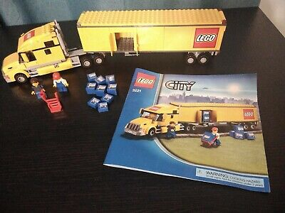 Lego City Lego Yellow Truck 3221 - Instructions Minifigures Accessories Included