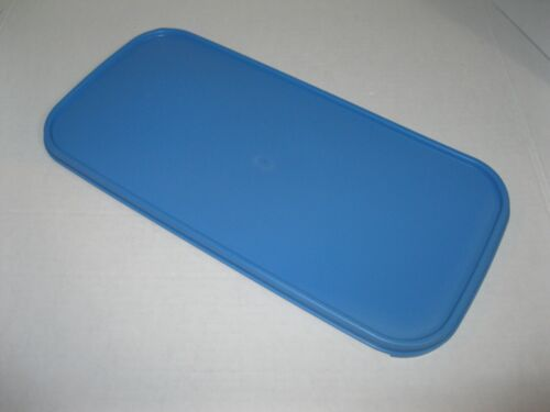 TUPPERWARE REPLACEMENT LID / SEAL Modular Mates PRODUCE MANAGER Long Rect BLUE