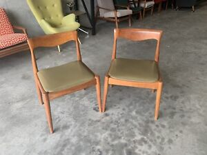 *SOLD* Danish Deluxe Tassie Blackwood Dining Chairs for Restoration