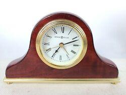 Howard Miller Quartz Mantel Alarm Clock 613-489 Cherry Wood and Brass Finish