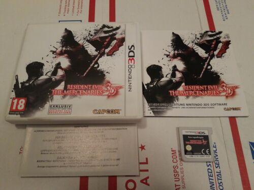 European (doesn't work on american consoles) Resident Evil: Mercenaries 3DS