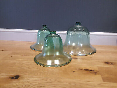 VINTAGE FRENCH GLASS BELL JARS/CLOCHES