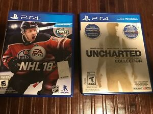 Ps4 games- uncharted collection, nhl 18