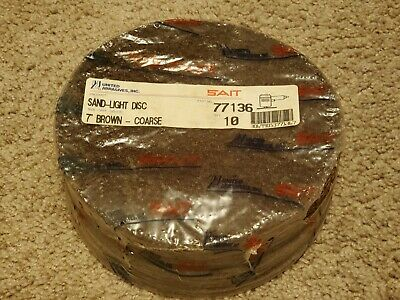United Abrasives Sait 7 Sanding Discs Pack Of 10