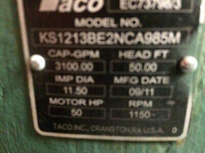 Used Industrial Water Pump Ks1213 3100 Gpm 50 Tdh 50 Hpmotor