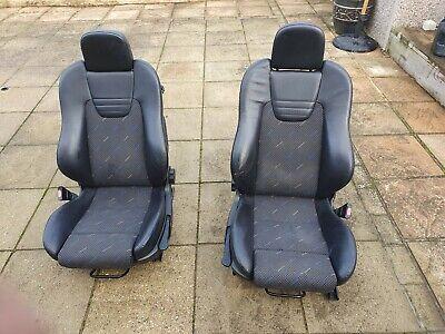 vauxhall astra gsi turbo recaro front half leather seats