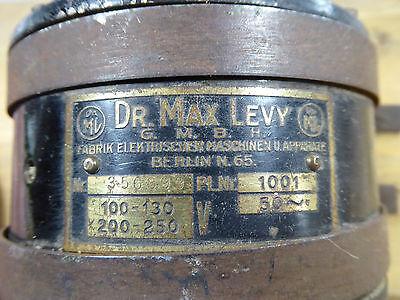 antiker Motor Elektromotor Ventilator Dr. Max Levy Berlin Jugendstil Vintage