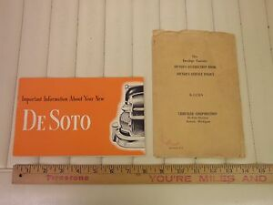 1950-DESOTO-Owners-Manual-Instruction-Book-w-Envelope
