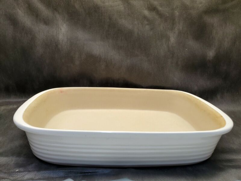 Pampered Chef Stoneware Casserole Dish 9x13 Family Heritage New Traditions Used