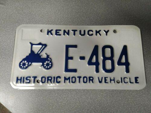 KENTUCKY HISTORIC MOTOR VEHICLE E-484  LICENSE PLATE  #1