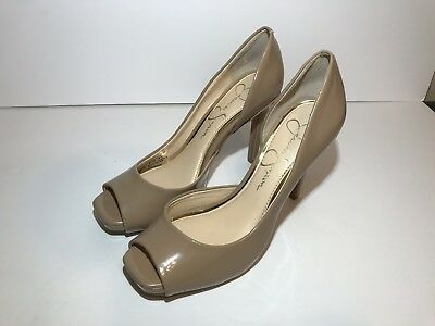 Jessica Peep Toe Pumps (Jessica Simpson Jaselle Heels Stilettos Pumps Womens Sz 6.5 Beige Tan Peep Toe)