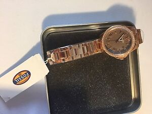 Women's FOSSIL Rose Gold watch.