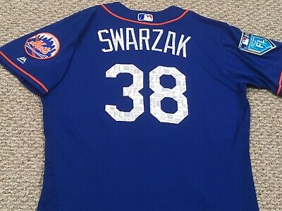 3b1a20310 SWARZAK size 46  38 2018 New York Mets Spring Training game used jersey MLB