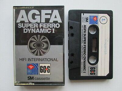 TAPE Vintage AUDIO CASSETTE  AGFA SUPER FERRO DYNAMIC I 60+6 SM GERMANY