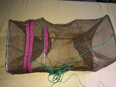 2 Ranger collapsible minnow nets NETTING Certain point DAMAGED but very functional