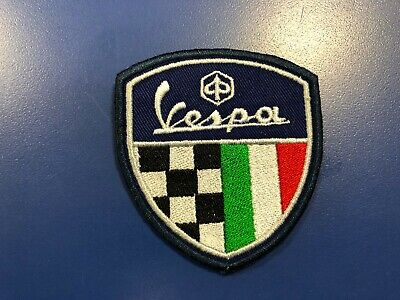 "Vespa Racing ""Retro""  Shield Patch Sew-on/Glue-on Leather Jacket NEW"