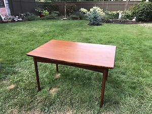Teak dining table w chairs