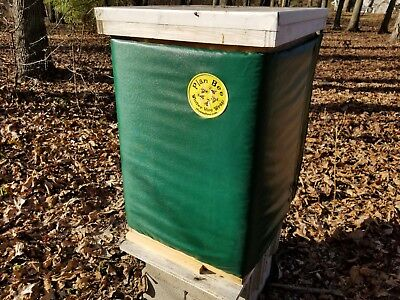 Plan Bee Winter Hive Wrap Green 10 Frame 2 Deeps