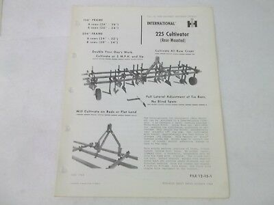 International Harvester 225 Rear Mounted Cultivator 3 Point Hitch Brochure