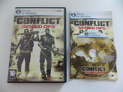 Used, Jeux vidéo PC CONFLICT Denied Ops DVD-Rom Version Française for sale  Shipping to Nigeria