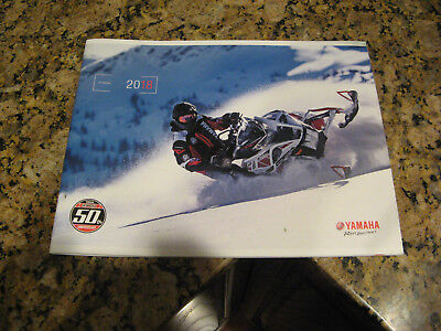 2018 Yamaha Snowmobile SALES BOOK Brochure 50TH ANNIVERSARY BRAND NEW MINT