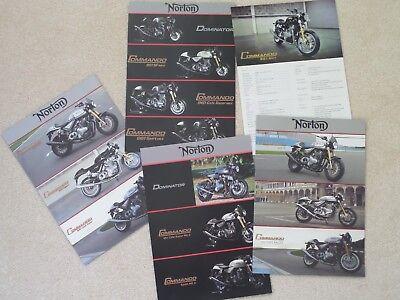 Norton Range Motorcycle Sales Brochure Qty 5 - 2013/14/15/16/17