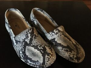 NurseMates snake print shoes