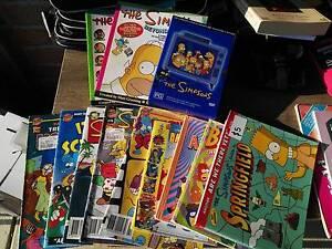 The Simpsons Mixed Comics/Books/Dvd's Croydon Maroondah Area Preview