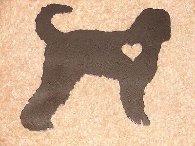 LABRADOODLE PET DOG MEMORIAL GARDEN YARD LAWN ORNAMENT