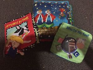 Cloth baby books - excellent condition