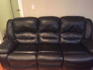 Black Brick Recliner Sofa